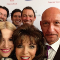 Joan Collins took her own celebrity selfie to rival Ellen's record-breaking shot