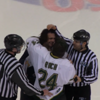 Hockey players knock lumps out of each other for a full minute... then high five