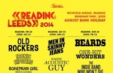 Clever Reading and Leeds Festivals poster gets musical line-up just right
