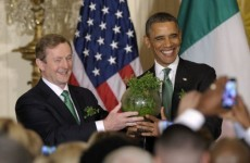 It'll be all smiles and shamrocks in the White House today