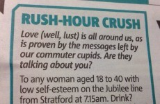 Commuter pens least charming lonely hearts ad of all time