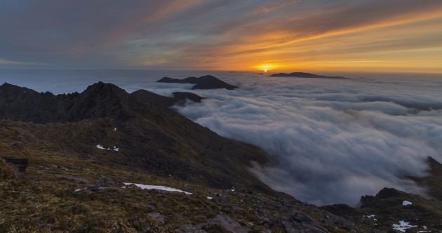 Is there anything better than a morning cloud inversion* at Macgillycuddy Reeks?