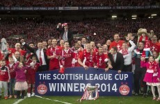 Ireland's Willo Flood and Adam Rooney help Aberdeen to Scottish League Cup final win