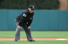 Baseball in the groin leaves umpire grounded for 10 minutes