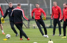 SNAPSHOT: Giggs and Moyes train together as Manchester United deny rift