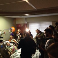 SXSW crash survivor's favourite band play a private gig in her hospital room