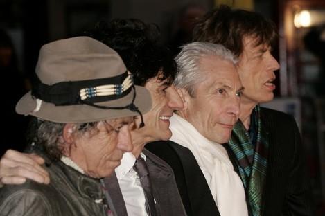 Keith Richards, Ronnie Wood, Charlie Watts, & Jagger