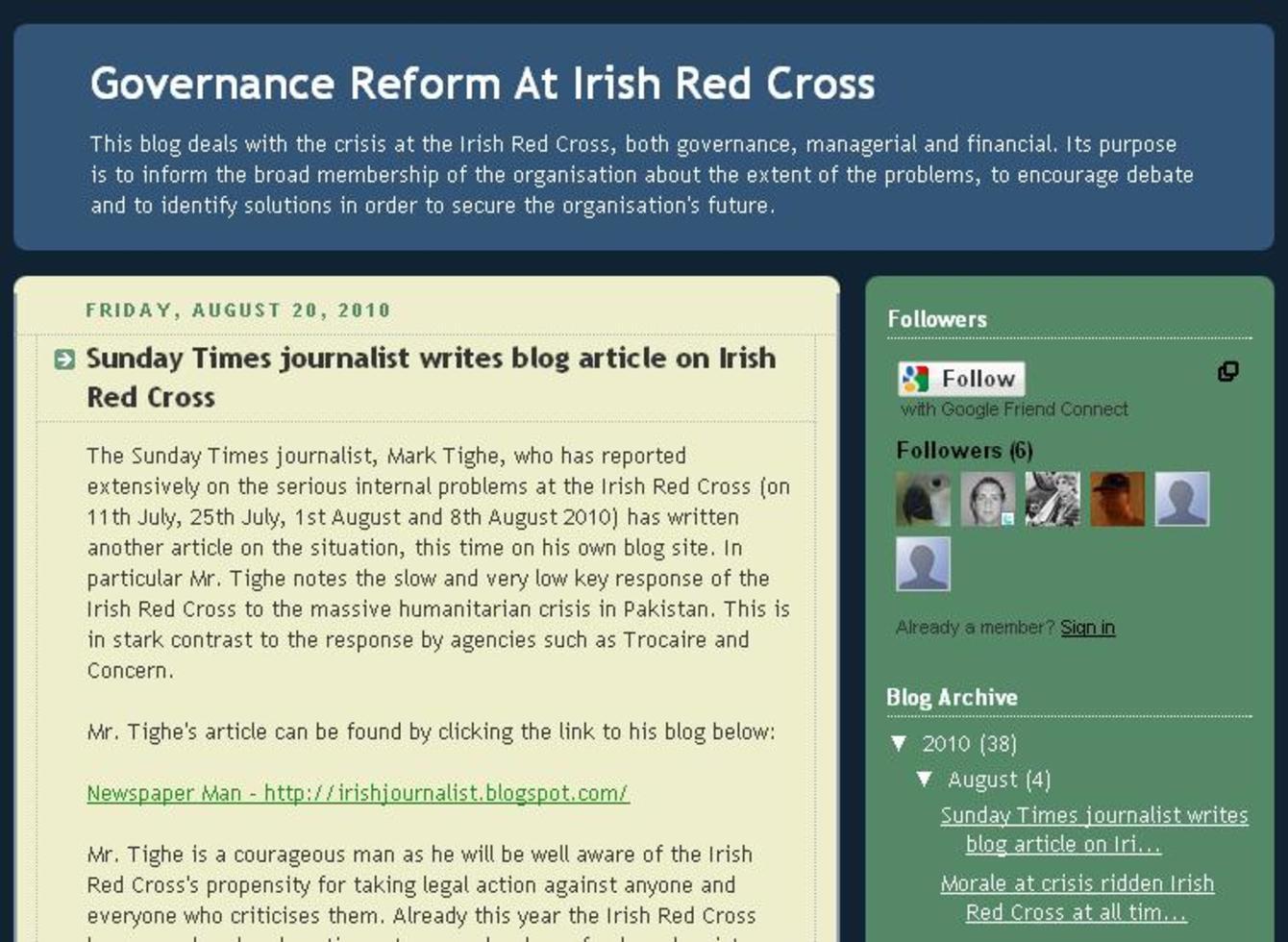 Red Cross suspends senior staffer over whistleblowing blog