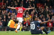 Van Persie seals hattrick with a free that leaves the keeper rooted to the spot
