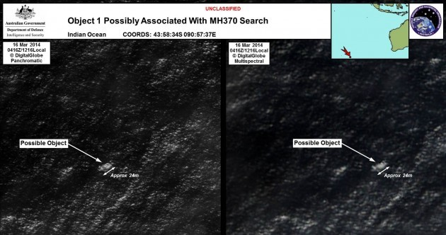 Objects in Indian Ocean could be missing Malaysian Airlines plane