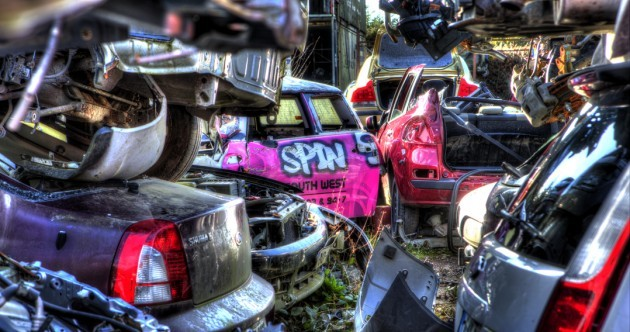 PHOTOS: Where cars go to die...
