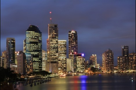 The Brisbane skyline at night