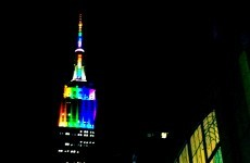 Did the Empire State Building wear a rainbow flag after Fred Phelps' death?