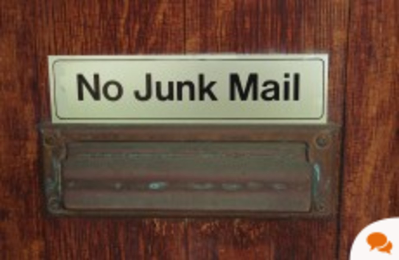 The Secret Candidate: Here's why 'no junk mail' signs are my