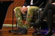 This man's trousers owned the Late Late Show last night