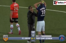 Pitch invader falls over during Zlatan hero worship, still gets The Great One's jersey