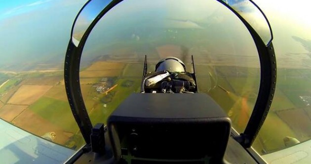 Can you see what this Air Corps pilot has just done?