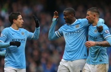 High five for City as Yaya hattrick helps them cruise past Fulham