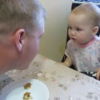 Angry baby easily wins argument with her dad