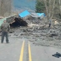 Six-month-old baby rescued after homes destroyed in landslide