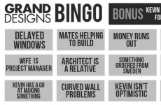 Who wants to play Grand Designs Bingo?