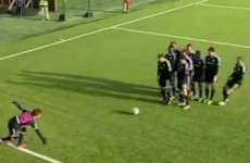 The best 'bowling alley' goal celebration you'll see today