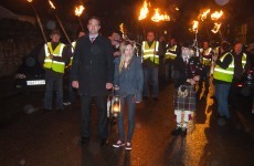 Light my fire: Independent candidate launches local election bid with burning turf parade