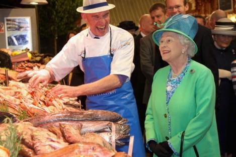 Queen Elizabeth II visits the English Market in Cork.