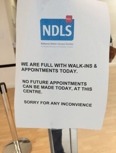 Driving licence centre closed - because it was too busy