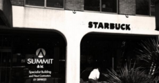 It's a sign!: The Starbucks sign on the old Anglo HQ to be precise
