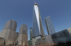 Guys secretly BASE jump off the Freedom Tower in New York