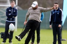 Howlett with a hurley, Lowry as a rugby kicker, Brogan and Boland try out golf
