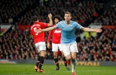 Dzeko downs tepid United to give City derby spoils