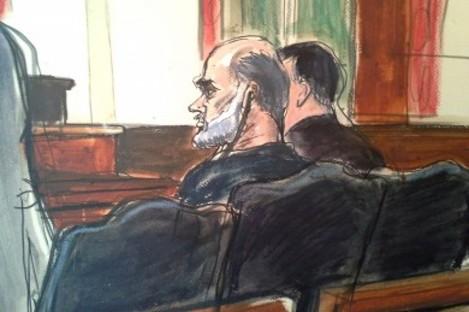 Drawing, Osama bin Laden's son-in-law, Sulaiman Abu Ghaith.