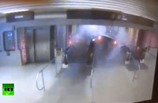 Terrifying video of the Chicago train derailing and climbing up escalator