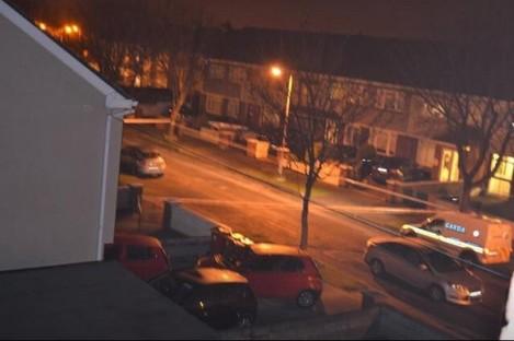 The scene of last night's explosion