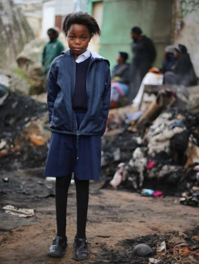 Children left homeless by fire 'went to school like it was a normal day'