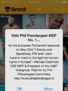 This MEP is appealing for votes on Grindr