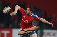 Rob Penney names Denis Hurley at 12 in Munster team to face Leinster