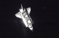 Endeavour shuttle docks at International Space Station