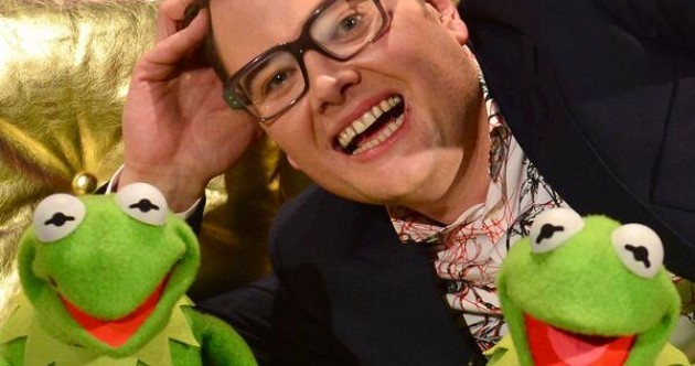 Alan Carr took a selfie with a pair of drunk muppets on Chatty Man last night