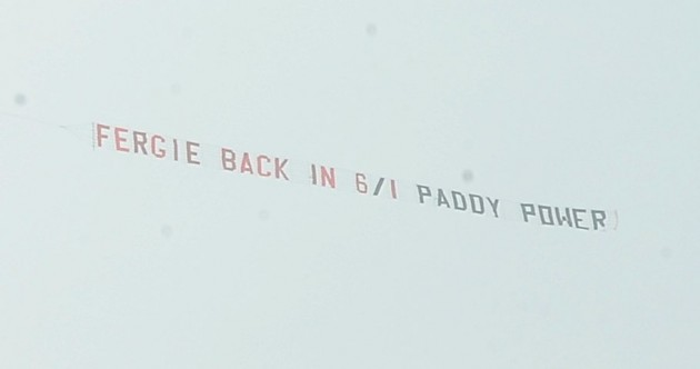 Paddy Power hijack United fans' Moyes protest