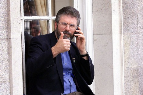 Gerry Adams will be happy with today's opinion poll