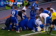 Ukrainian soccer player saves opponent who swallows his tongue