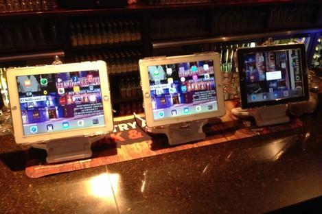 The three iPads in O'Sullivans Bar in Douglas, Cork