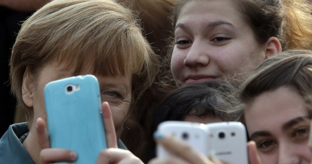 Angela Merkel is now taking selfies