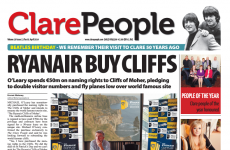 Clare People front page splash causes panic about the Cliffs of Moher