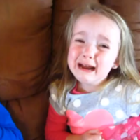 Three-year-old finds out she's going to be four... and is totally devastated