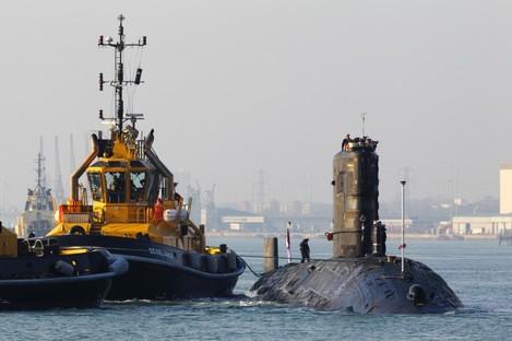 The Royal Navy submarine HMS Tireless
