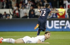 John Terry gets the assist as Lavezzi thumps home PSG's opening goal
